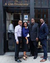 Pianist Kevin J. Miller, Mezzo-Soprano Chrystal Williams, Metropolitan Opera star Eric Owens, & Tenor Chase Taylor gave a Sneak Preveiw of the Glimmerglass Opera Festival 2012 Season at Harlem's acclaimed 5 and Diamond.  Photo by:  Karli Cadel