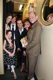 L Charlotte Cohen, her daughter Imogen, Jason Odell Williams, Jonathan Sale, .  photo by:  rose billings
