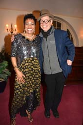 Dee Dee Bridgewater (Nightlife Legend Award Winner )and Guest Star Presenter Bill Irwin.  photo by:  rose billings