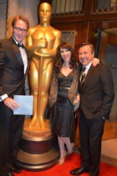 Mark Porter, Alyssa Frake and Chef Daniel Boulud .  photo by:  rose billings
