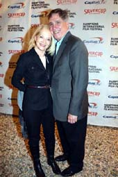 Ruth Appelhof Executive Director Guild Hall and her wonderful Husband Gary host many events for The HIFF . photo by:  rose billings