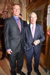 Robert F. Kennedy Jr., and Mayor Michael Bloomberg.  Photo by:  Rose Billings