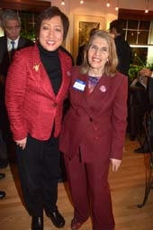 Congresswoman Colleen Hanabusa (D-Hawaii), Candidate for U.S. Senate, and NY Democratic State Committeewoman Trudy L. Mason.  photo by:  rose billings