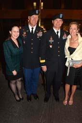 Colonel Paul E. Owen and wife Wendy and  BG Kent D.  Savre Commander and wife Mary Beth.  photo by:  rose billings