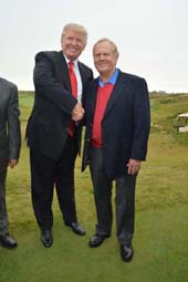 Donald Trump and Jack Nicklaus .  photo by:  rose billings