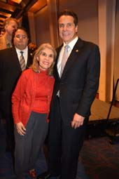 Trudy L. mason New York State Democratic Committee and Governor Andrew Cuomo.  photo by:  rose billings