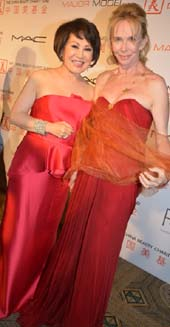 Yue-Sai Kan and Trudie Styler.  Photo by: Rose Billings