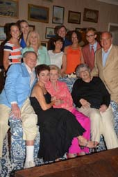 Ted Hartley, Dina Merrill Hartley, Christine Andreas, Cornelia Bregman.  photo by:  rose billings