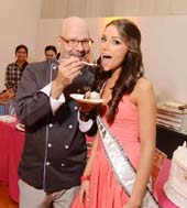Chef Ron Ben-Israel serves Miss USA 2012, Olivia Culpo