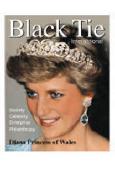 Princess Diana issue, Black Tie International cover