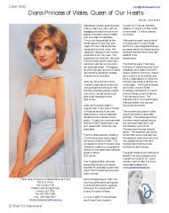 Diana Princess of Wales, Queen of Our Hearts, Cover story,The Diana Princess of Wales Memorial Fund, theworkcontinues.org, The Dai