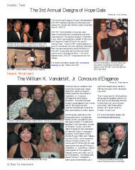 UNICEF, Houston Texas, John M Tsacrios, Jr., Jane Seymour, Caryl Stern, Concours d'Elegance, Cynthis Gibson, Thomas and Karen Roskelly, Debi Rahal, Kathy Irving, Johnny and Betty Rutherford, Newport, Rhode Island, Society, Celebrity, Philanthropy