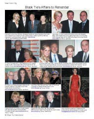 Black Tie's Affairs to Remember, Double Helix Medals Dinner, Deborah Norville, CMEE at the Beach, Brian Williams, St.George's Society of New York, Dr. henry Kissinger, Dr. Ruth Westheimer, El Museo,  Carolina and Reinaldo Herrera,  Eli Wallach, Marissa Berenson, Citymeals-on-Wheels, Lynn Sherr, Autism Speaks, Sara Jessica Parker, American Ireland Fund, Frank McCourt, Designers for Darfur