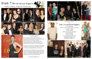 Black Tie Magazine, Two page promotional piece