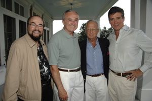 James Lipton, William Bratton, Larry Leeds and Jay McInerney