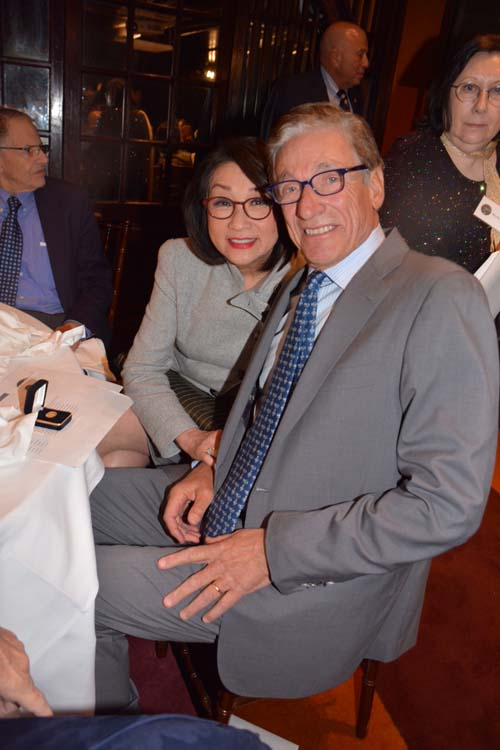 Connie Chung and her husband Gold Circle Honoree Maury Povich.  Photo by: Rose Billings/Blacktiemagazine.com