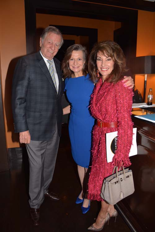 President Denise Rover (Center) with Helmut Huber and Susan Lucci.  Photo by: Rose Billings/Blacktiemagazine.com