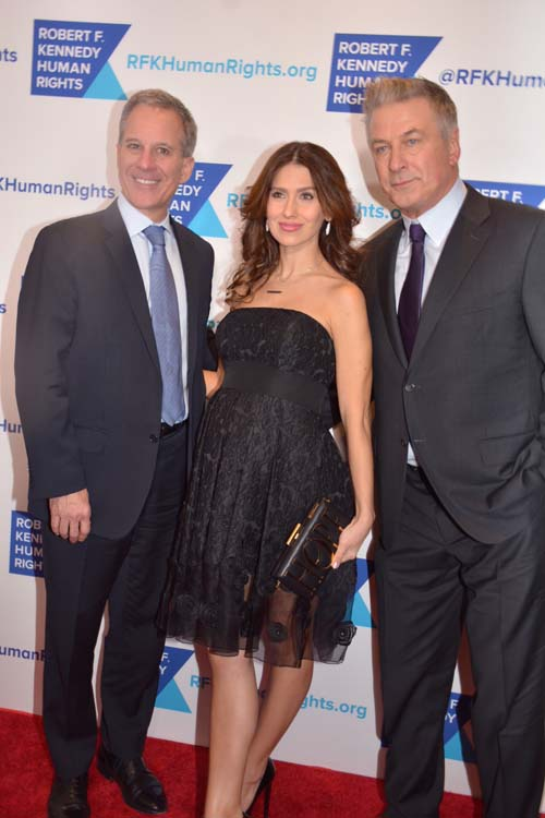 New York Attorney General Eric Schneiderman, Hilaria Baldwin  and Host Alec Baldwin.  Photo by: Rose Billings/Blacktiemagazine.com