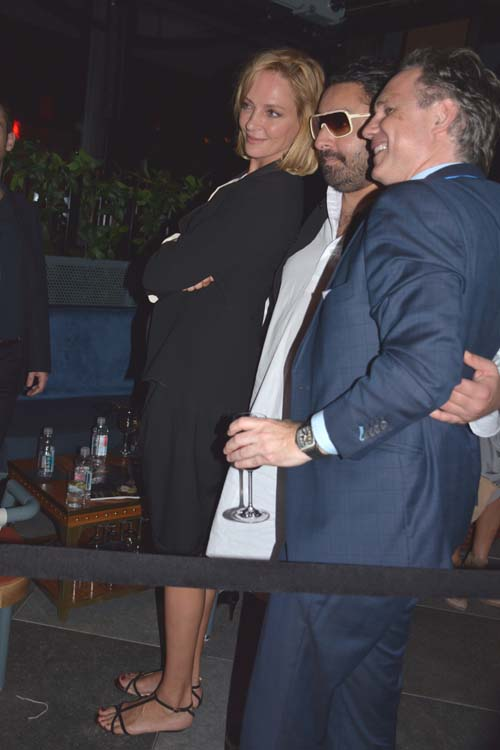 Uma Thurman, Vikram Chatwal and Jason Binn.  Photo by:  Rose Billings/Blacktiemagazine.com