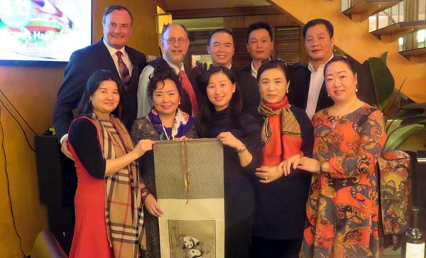 Xu Lili, Chairman of Sichuan-Congqing Chamber of Commerce,Winnie Greco, American/Chinese Ambassador, Office of the Brooklyn Borough President,Xiong Min, deputy Chief, Office of Foreign and Overseas Chinese Affairs,