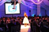 Aspen Art Museum ArtCrush Chair Amy Phelan onstage during the 2011 gala. Courtesy Billy Farrell/BFAnyc.com