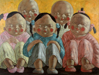XU JIE�S �Chinese Boys and Girls� series of oil paintings