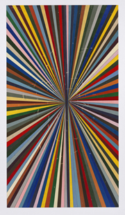 Mark Grotjahn, Untitled (Full Color Butterfly 41.52), 2010; color pencil; 85 3/4 x 47 3/4 in.; estimate: