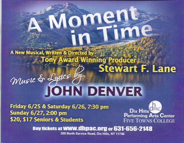A Moment in Time, Stewart F. Lane, John Denver
