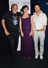 Louis Savy (Festival Director), Katherine Boynton (actress), Christian Carroll (Director, Writer, Producer, Actor) Photo by: Chris Harvey