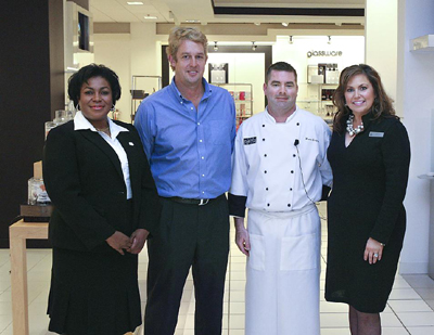 Yolette Bonnet, CEO of FoundCare; Chappy Adams, president of Illustrated Properties;  Matt Livers, executive chef partner for Capital Grille; and Laura Gallo, general manager for Bloomingdale's Palm Beach Gardens