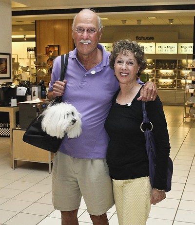 Ken and Barnette Druskin with dog Honey