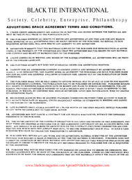 Advertising information, terms