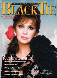 Black Tie International Magazine, Gina Lollobrigida issue