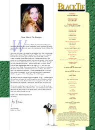Black Tie International, Gina Lollobrigida issue, Editor's page, Joyce Brooks, Editr-in-Chief