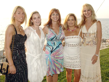 Graceon DeCrosta, Sarah Ehrlich, Jill Zarin, Amelia Doggweiler, Sara Herbert-Galloway Photo by: Rob Rich www.hamptonscene.com