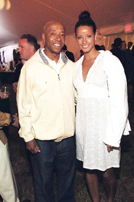 Russell Simmons and Porschla Coleman.
