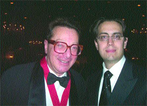 Lord Saatchi, recipient of The 2007 St. George's Society Medal of Honor with Pesach Lattin, CEO Vizi Media.