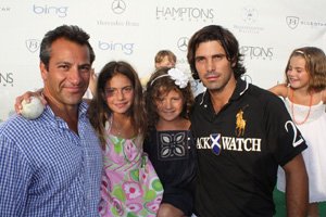 Roys Poyiadjis and daughter Elena, Olivia Friedland and