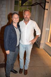 Jason Binn and Kevin Costner.  Photo by:  Rose Billings/Blacktiemagazine.com