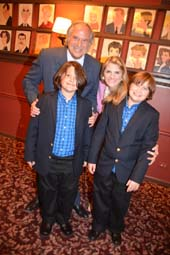 Stewart F Lane, Bonnie Comley and twin sons Lenny and Frankie.  Photo by:  Rose Billings/Blacktiemagazine.com