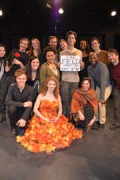 Jeremy Cone center and cast The Field at ARA Kraine Theater East 4th, Producer, Writer, Director and Star Jeremy Cone.  Photo by: Rose Billings/Blacktiemagazine.com