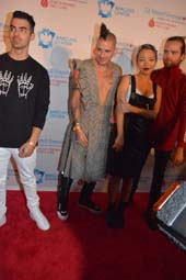 Joe Jonas ,Cole Whittle, Jin Joo Lee and Jack lawless .  Photo by:  Rose Billings/Blacktiemagazine.com