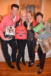 Jeff Bernhard, Dianne Bernhard, Allison Bernhard and Mary E Cava,.  Photo by:  Rose Billings/Blacktiemagazine.com
