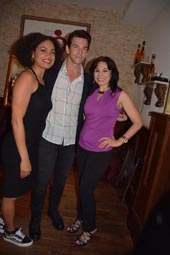Barrett Doss, Andy Karl and Valerie Smaldone. Photo by:  Rose Billings/Blacktiemagazine.com