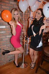 Ashley Dill and Nicole Ciglar Glorious Hooters Calendar Girls 2015 .  Photo by:  Rose Billings/Blacktiemagazine.com