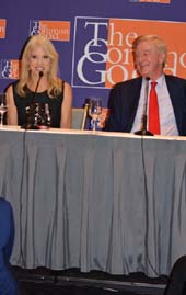 Kellyanne Conway and William Weld.  Photo by:  Rose Billings/Blacktiemagazine.com