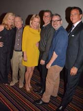 "MSNBC Alex Witt, legendary Talk Show Host Dick Cavett, Patricia Duff Founder TCG, and ""Best of Enemies"" Directors Robert Gordon and Morgan Neville and TCG event chair Steven Buffone..  Photo by:  Rose Billings/Blacktiemagazine.com"