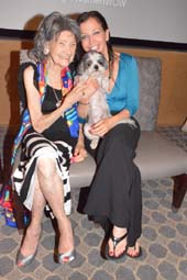 Tao Porchon-Lynch, with Wendy Diamond and Baby Hope.  Photo by:  Rose Billings/Blacktiemagazine.com