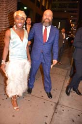 Cynthia Erivo (The Color Purple and Danny Burstein (Fiddler On The Roof).  Photo by:  Rose Billings/Blacktiemagazine.com
