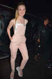Elle Fanning arriving at 42 West .  Photo by:  Rose Billings/Blacktiemagazine.com